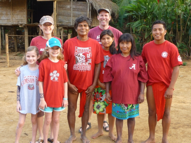 Roll Tide from Embera Puru village