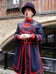 Beefeater giving tour