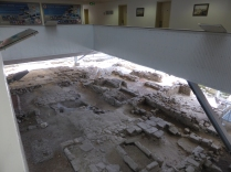 View of the the Big Dig site from the corridors