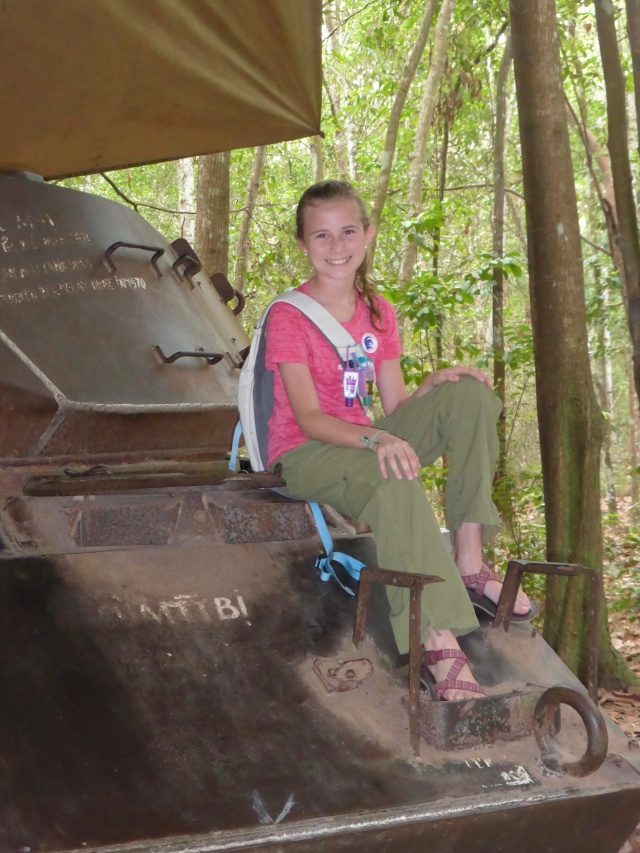 Tank at the Cu Chi Tunnels outside Ho Chi Minh City, Vietnam
